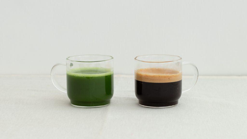 a cup of caffeine in matcha vs coffee comparison