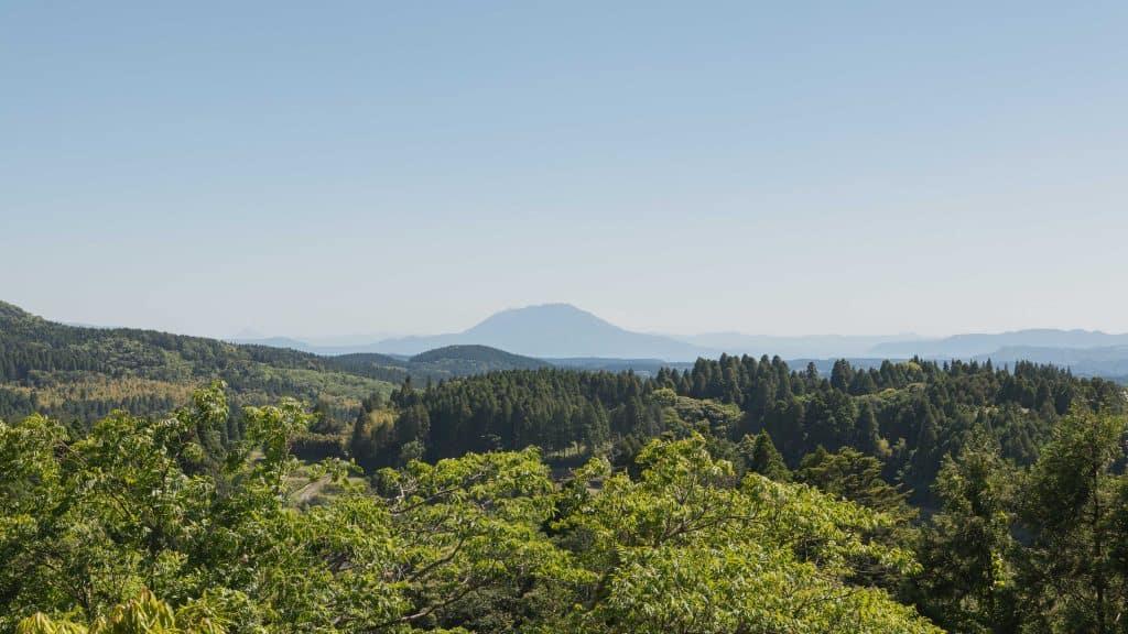 View from kirishima shrine