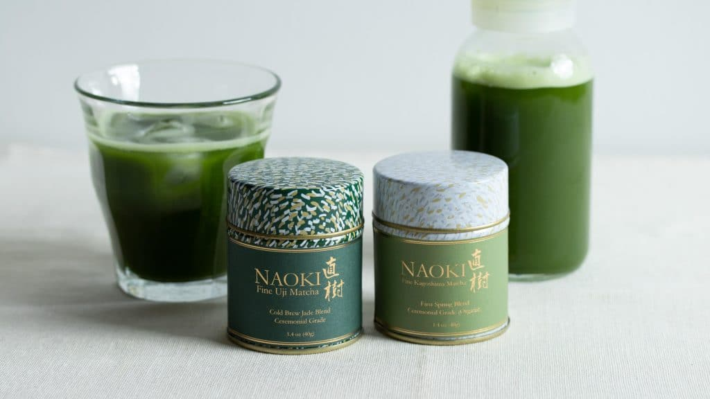 Naoki Matcha Cold Brew Jade Ceremonial Matcha and Organic Ceremonial Matcha for cold brew matcha