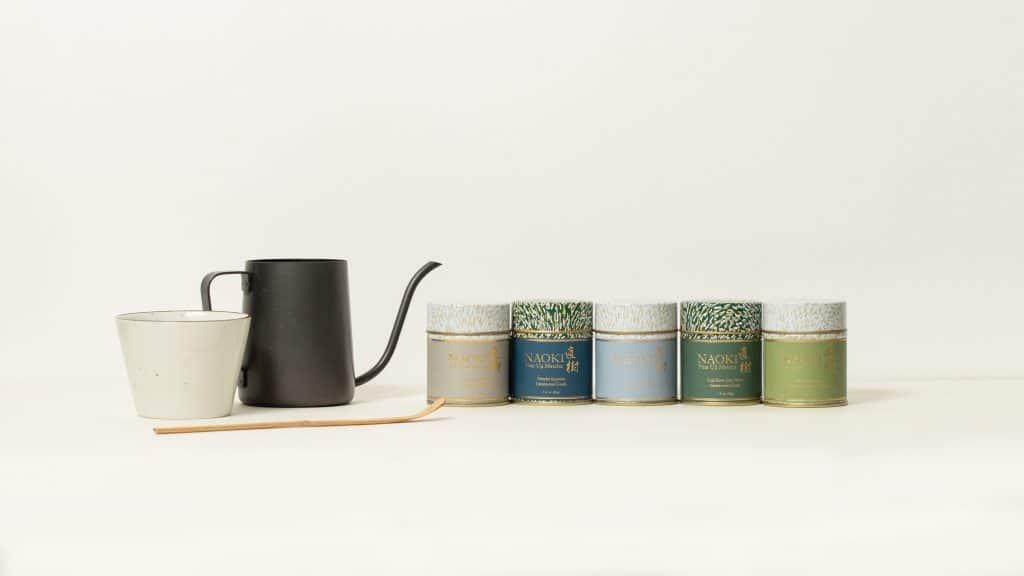 Five variety of Naoki's Ceremonial Grade matcha blends
