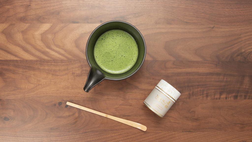 Matcha tea made with Naoki Matcha's First Harvest Fragrant Yame Ceremonial Matcha