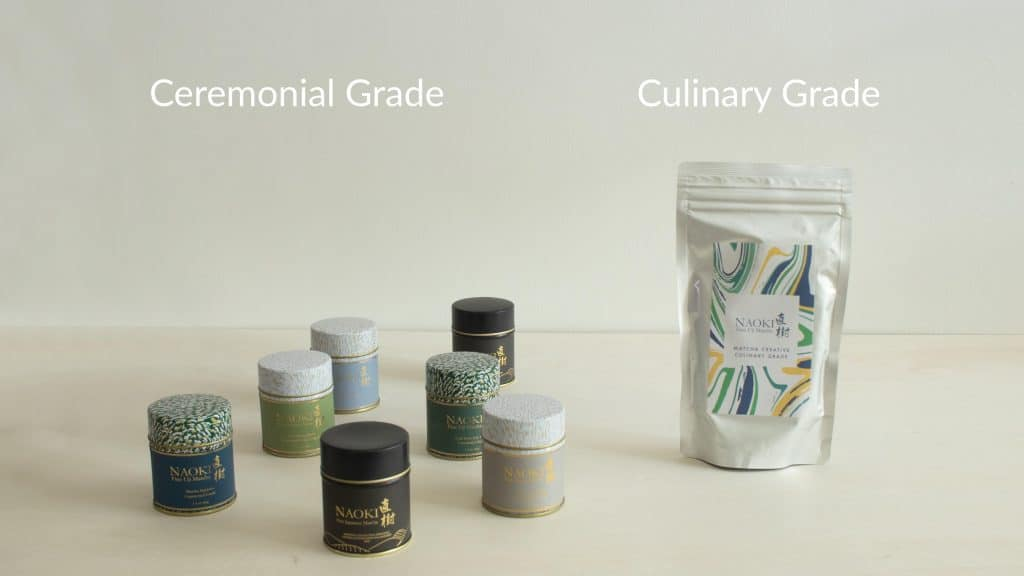 Naoki Ceremonial Matcha Blends and Culinary Matcha blend