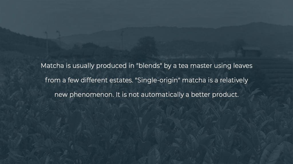 Single origin vs blend