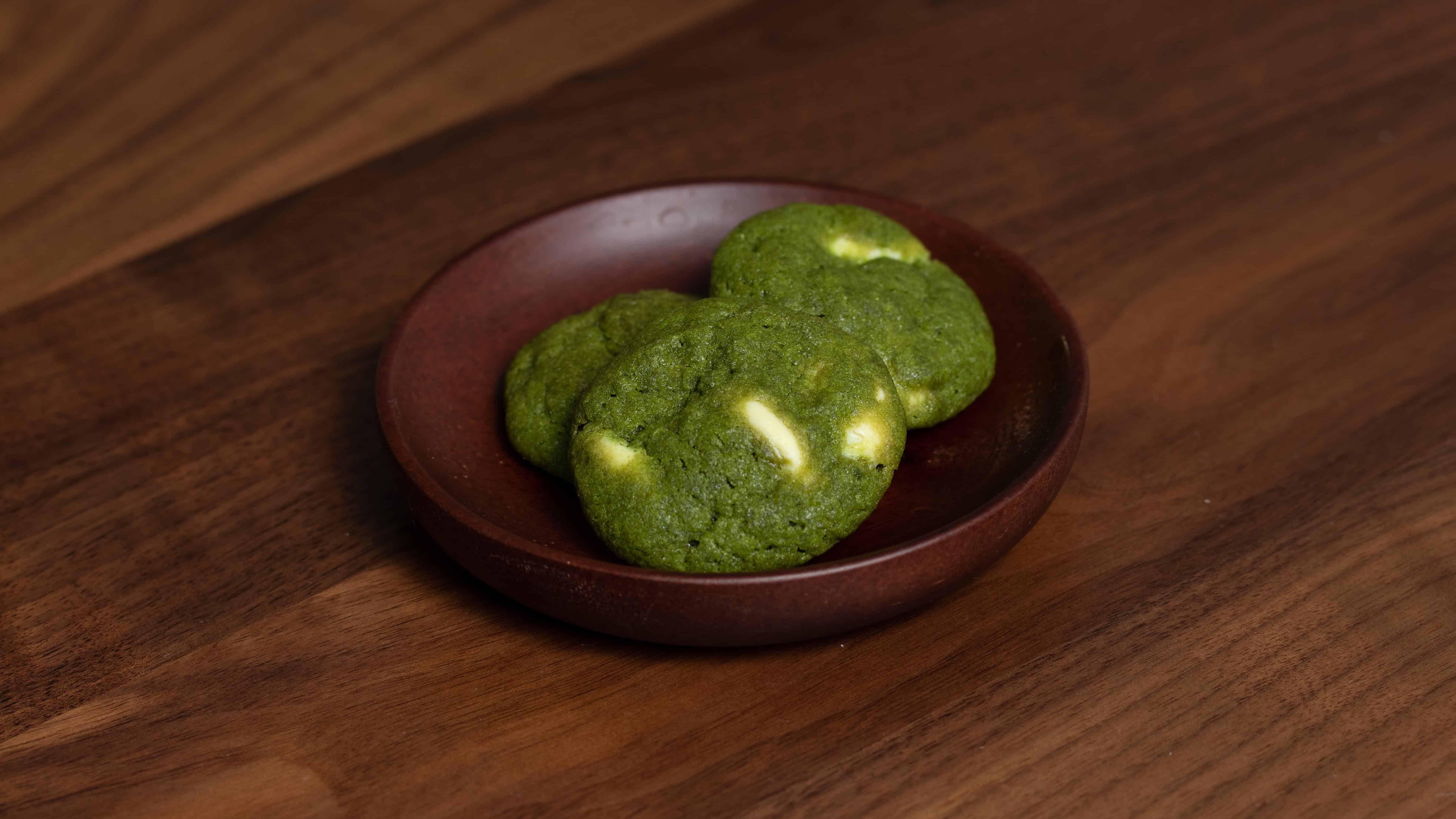 Matcha green tea white chocolate chips cookies recipe
