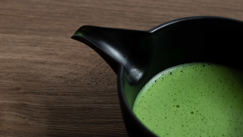 usucha matcha tea in spouty bowl